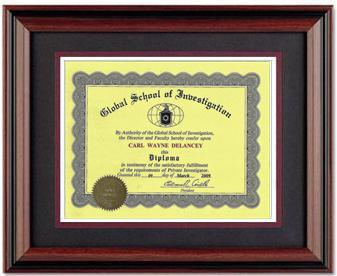 Diploma Award Plus Custom Professional 11x14 Rosewood