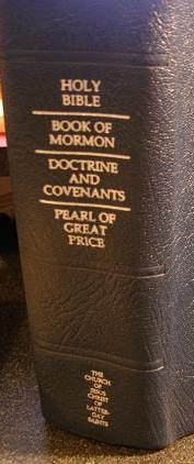 LDS Quad Bible Book of Mormon Pearl in Top Grain Burgundy Leather 2013 edition